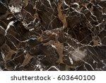 beautiful brown vein marble... | Shutterstock . vector #603640100
