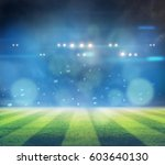stadium in lights and flashes... | Shutterstock . vector #603640130