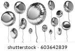 3d rendered silver round... | Shutterstock . vector #603642839
