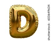 Letter D Metallic Blue Shiny...