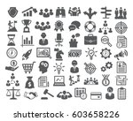 business icons set. icons for... | Shutterstock .eps vector #603658226