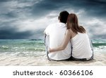sea view of a couple sitting on ... | Shutterstock . vector #60366106