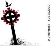 Vector Illustration Of Crucifix ...