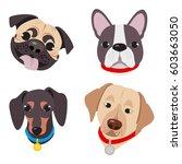 vector illustration  set of... | Shutterstock .eps vector #603663050