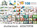 mega collection of 108 business ... | Shutterstock .eps vector #603670958