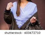 perfect spring fashion outfit....   Shutterstock . vector #603672710