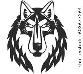 wolf vector head. perfect for... | Shutterstock .eps vector #603677264