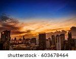 abstract urban skyline...   Shutterstock . vector #603678464