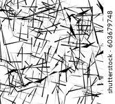 random  chaotic lines artistic... | Shutterstock .eps vector #603679748