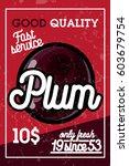 color vintage fruit banner | Shutterstock .eps vector #603679754
