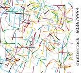 random  chaotic lines artistic... | Shutterstock .eps vector #603679994