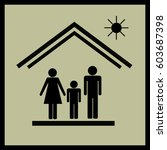 protection of family in house... | Shutterstock .eps vector #603687398