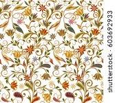seamless pattern in ethnic...   Shutterstock .eps vector #603692933
