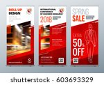 roll up banner stand.... | Shutterstock .eps vector #603693329