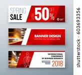 banner template design.... | Shutterstock .eps vector #603693356