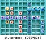words of business marketing...   Shutterstock . vector #603698369