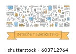 line web banner for internet... | Shutterstock .eps vector #603712964
