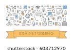 line web banner for... | Shutterstock .eps vector #603712970