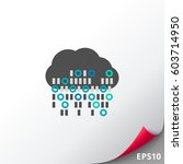 cloud computing vector icon | Shutterstock .eps vector #603714950