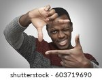 close up portrait of young... | Shutterstock . vector #603719690