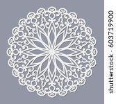 the template mandala pattern... | Shutterstock .eps vector #603719900