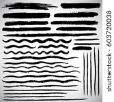 set of various vector brush... | Shutterstock .eps vector #603720038