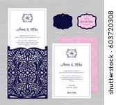 wedding invitation or greeting... | Shutterstock .eps vector #603720308