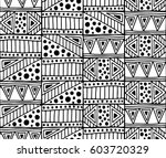 seamless vector pattern. black... | Shutterstock .eps vector #603720329