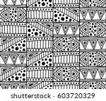 seamless vector pattern. black... | Shutterstock .eps vector #603720329