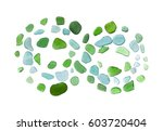 infinity sign mosaic made of... | Shutterstock . vector #603720404