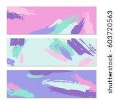 set of creative universal art...   Shutterstock .eps vector #603720563
