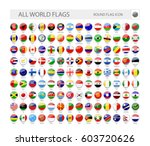 round world flags vector... | Shutterstock .eps vector #603720626
