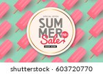summer sale background layout... | Shutterstock .eps vector #603720770