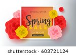 spring sale background layout... | Shutterstock .eps vector #603721124