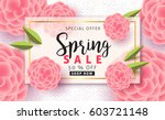 spring sale background layout... | Shutterstock .eps vector #603721148