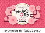 mothers day sale background... | Shutterstock .eps vector #603721460