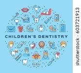 hildren's dentistry circle...   Shutterstock .eps vector #603721913