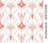 ethnic boho seamless pattern.... | Shutterstock .eps vector #603722186