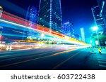 traffic through the modern city | Shutterstock . vector #603722438