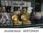 golden buddha statue in korea | Shutterstock . vector #603724424