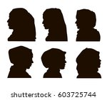 elegant muslim lady head with... | Shutterstock .eps vector #603725744