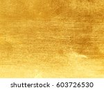 shiny yellow leaf gold foil... | Shutterstock . vector #603726530