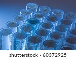 set of test tubes on a blue... | Shutterstock . vector #60372925