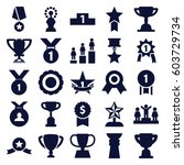 trophy icons set. set of 25... | Shutterstock .eps vector #603729734