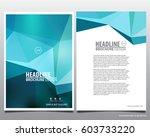 abstract vector modern flyers... | Shutterstock .eps vector #603733220
