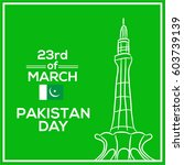 23 of march pakistan day... | Shutterstock .eps vector #603739139