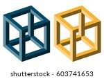 unreal optical illusion cubes... | Shutterstock .eps vector #603741653