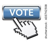 vote button with three... | Shutterstock .eps vector #603742508