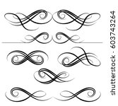 decorative monograms and... | Shutterstock .eps vector #603743264