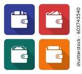 packed wallets icons set in... | Shutterstock .eps vector #603743540
